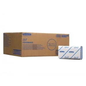 Бумажные полотенца SCOTT® Performance, голубые, 180 листов, арт. 6660
