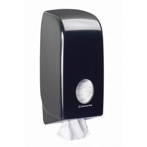 Черный диспенсер Aquarius для туалетной бумаги в пачках, арт. 7172