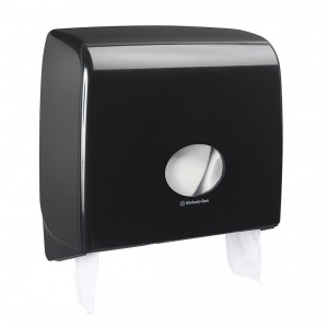 Черный диспенсер AQUARIUS для туалетной бумаги в больших рулонах, арт.7184