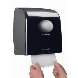 Черный диспенсер AQUARIUS Slimroll для бумажных полотенец в рулонах, арт.7185
