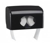 Черный диспенсер AQUARIUS для двух малых рулонов туалетной бумаги, арт.7191