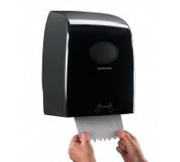 Черный диспенсер AQUARIUS для рулонных бумажных полотенец, арт. 7193