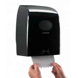 Черный диспенсер AQUARIUS для рулонных бумажных полотенец, 7193