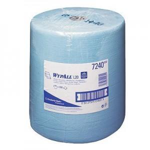 Протирочные салфетки WYPALL® L10 Extra+ в большом рулоне, 1-слойные, синие, арт. 7240