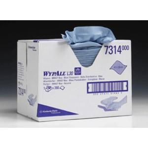 Протирочные салфетки WYPALL® L20 Extra  - упаковка  Brag Box, 2-слойные, синие, арт.7314