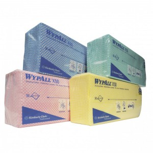 Многоразовые протирочные салфетки WYPALL® Х50 в пачках, арт. 7441, 7442, 7443, 7444