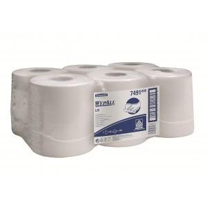Протирочные салфетки WYPALL® L10 Extra+ с центральной контролируемой подачей, 1-слойные, белые, арт. 7491