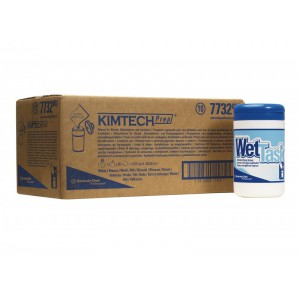 Протирочные салфетки KIMTECH®  WETTASK в рулоне + туба, арт. 7732