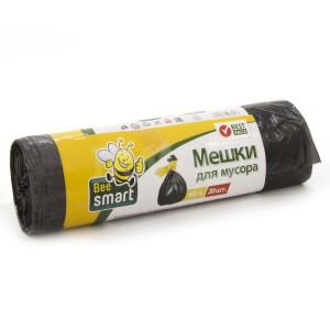 Пакет для мусора Beesmart 60л, 20 шт., 5,5 мкм ПНД, (чер.)