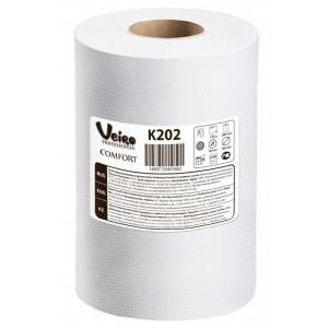 Полотенца бумажные для рук в рулоне Veiro Professional Comfort, увеличенная втулка, арт.K202