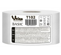 Туалетная бумага в средних рулонах Veiro Professional Basic, 200 метров, арт.T102
