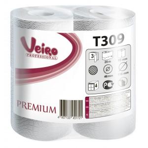 Туалетная бумага в малых рулонах Veiro Professional Premium - 3 слоя