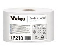Туалетная бумага в рулонах с центральной вытяжкой Veiro Professional Comfort - 215 метров