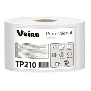 Туалетная бумага в рулонах с центральной вытяжкой Veiro Professional Comfort - 215 метров, TP210