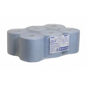 Бумажные полотенца в рулонах  Scott Xtra, 304 метра, синие, арт. 6668