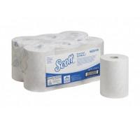 Бумажные полотенца в рулонах Scott Essential Slimroll белые 190 метров, арт 6695