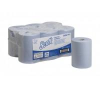 Бумажные полотенца в рулонах Scott Essential Slimroll синие 190 метров, арт 6696