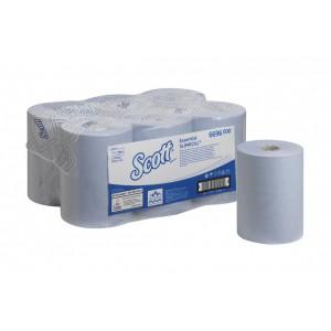 Бумажные полотенца в рулонах Scott Essential Slimroll голубые 190 метров, арт 6696