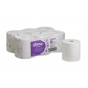 Бумажные полотенца в рулонах Kleenex Ultra белые двухслойные по 150 метров, арт.6780