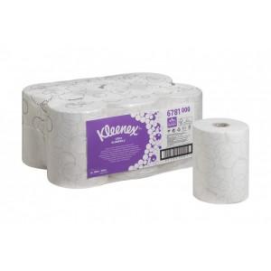 Бумажные полотенца в рулонах Kleenex Ultra Slimroll белые двухслойные по 100 метров, арт.6781