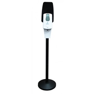 Комплект мобильной стойки с сенсорным наливным диспенсером BINELE (черная), арт. SF06AB